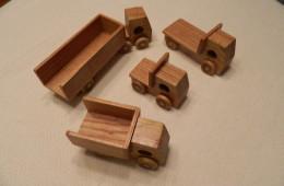 Wooden Toy Trucks handmade by Roy Herr, Landis Homes