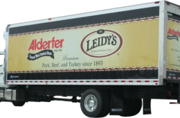 Another example of the truck wrap.  See previous truck caption for details.